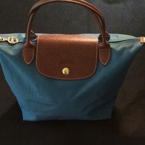 Longchamp Blue le Pilage Small Tote